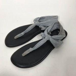 Sanuk yoga sling Ella sandals feathered gray sz 11